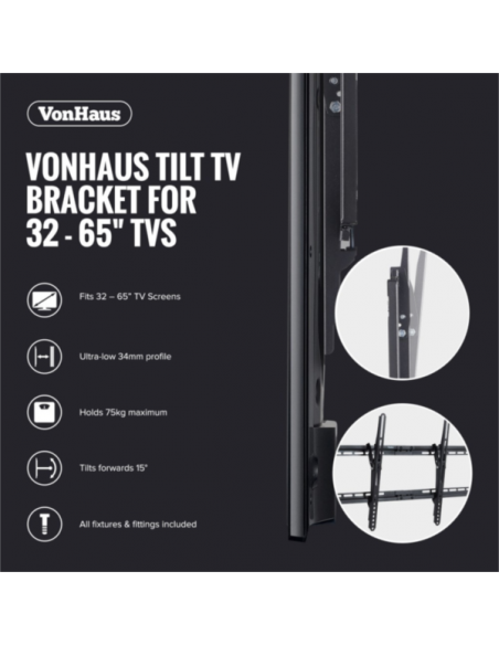VonHaus 32-65'' nagibni TV stenski nosilec do 75kg